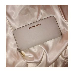 Michael Kors White Leather Wallet